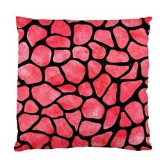 Skin1 Black Marble & Red Watercolor (r) Standard Cushion Case (two Sides) by trendistuff