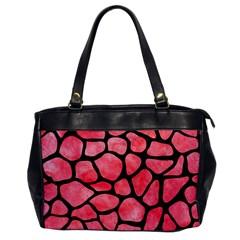 Skin1 Black Marble & Red Watercolor (r) Office Handbags by trendistuff