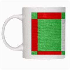 Fabric Christmas Colors Bright White Mugs by Onesevenart
