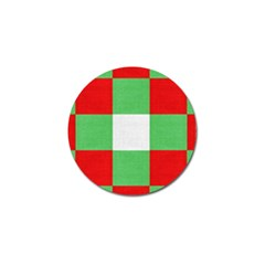 Fabric Christmas Colors Bright Golf Ball Marker (4 Pack) by Onesevenart