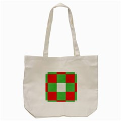 Fabric Christmas Colors Bright Tote Bag (cream) by Onesevenart