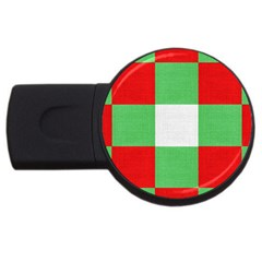 Fabric Christmas Colors Bright Usb Flash Drive Round (4 Gb) by Onesevenart