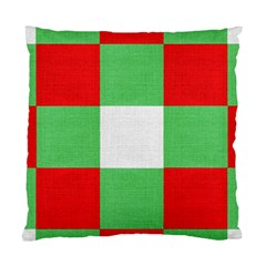 Fabric Christmas Colors Bright Standard Cushion Case (two Sides) by Onesevenart