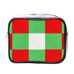 Fabric Christmas Colors Bright Mini Toiletries Bags by Onesevenart