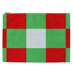 Fabric Christmas Colors Bright Cosmetic Bag (xxl)  by Onesevenart