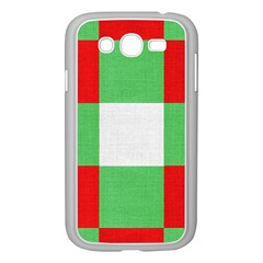 Fabric Christmas Colors Bright Samsung Galaxy Grand Duos I9082 Case (white) by Onesevenart
