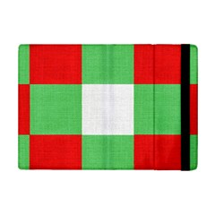 Fabric Christmas Colors Bright Ipad Mini 2 Flip Cases by Onesevenart
