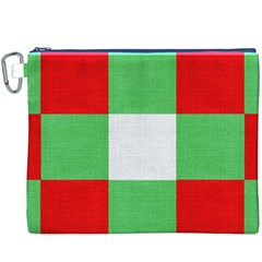 Fabric Christmas Colors Bright Canvas Cosmetic Bag (xxxl) by Onesevenart