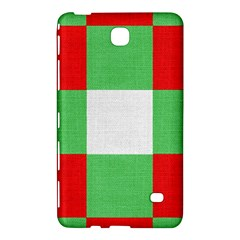 Fabric Christmas Colors Bright Samsung Galaxy Tab 4 (8 ) Hardshell Case  by Onesevenart