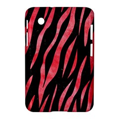 Skin3 Black Marble & Red Watercolor (r) Samsung Galaxy Tab 2 (7 ) P3100 Hardshell Case