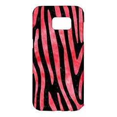 Skin4 Black Marble & Red Watercolor Samsung Galaxy S7 Edge Hardshell Case by trendistuff