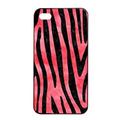 Skin4 Black Marble & Red Watercolor (r) Apple Iphone 4/4s Seamless Case (black)