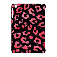 Skin5 Black Marble & Red Watercolor Apple Ipad Mini Hardshell Case (compatible With Smart Cover) by trendistuff