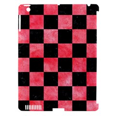 Square1 Black Marble & Red Watercolor Apple Ipad 3/4 Hardshell Case (compatible With Smart Cover) by trendistuff