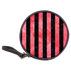 Stripes1 Black Marble & Red Watercolor Classic 20 Cd Wallets by trendistuff