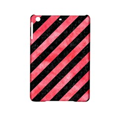 Stripes3 Black Marble & Red Watercolor (r) Ipad Mini 2 Hardshell Cases by trendistuff