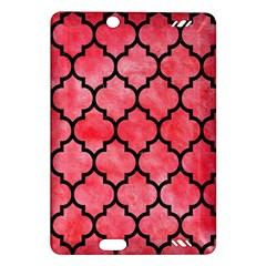Tile1 Black Marble & Red Watercolor Amazon Kindle Fire Hd (2013) Hardshell Case by trendistuff