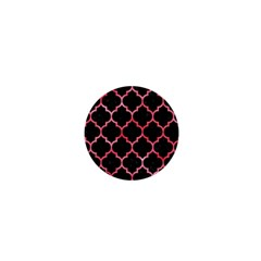 Tile1 Black Marble & Red Watercolor (r) 1  Mini Magnets by trendistuff