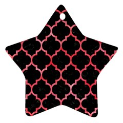 Tile1 Black Marble & Red Watercolor (r) Ornament (star) by trendistuff