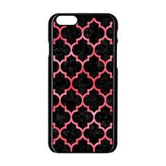 Tile1 Black Marble & Red Watercolor (r) Apple Iphone 6/6s Black Enamel Case by trendistuff