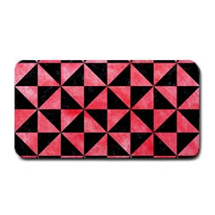 Triangle1 Black Marble & Red Watercolor Medium Bar Mats by trendistuff