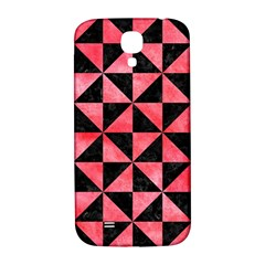Triangle1 Black Marble & Red Watercolor Samsung Galaxy S4 I9500/i9505  Hardshell Back Case