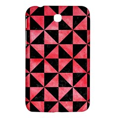 Triangle1 Black Marble & Red Watercolor Samsung Galaxy Tab 3 (7 ) P3200 Hardshell Case  by trendistuff