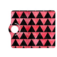 Triangle2 Black Marble & Red Watercolor Kindle Fire Hdx 8 9  Flip 360 Case by trendistuff
