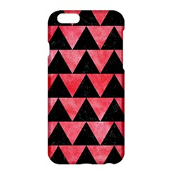 Triangle2 Black Marble & Red Watercolor Apple Iphone 6 Plus/6s Plus Hardshell Case by trendistuff