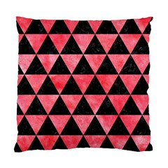 Triangle3 Black Marble & Red Watercolor Standard Cushion Case (two Sides) by trendistuff