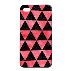Triangle3 Black Marble & Red Watercolor Apple Iphone 4/4s Seamless Case (black) by trendistuff