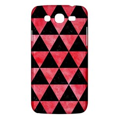 Triangle3 Black Marble & Red Watercolor Samsung Galaxy Mega 5 8 I9152 Hardshell Case  by trendistuff
