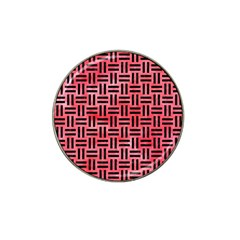 Woven1 Black Marble & Red Watercolor Hat Clip Ball Marker by trendistuff
