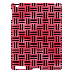 Woven1 Black Marble & Red Watercolor Apple Ipad 3/4 Hardshell Case by trendistuff