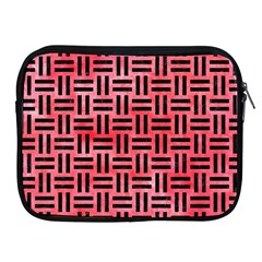 Woven1 Black Marble & Red Watercolor Apple Ipad 2/3/4 Zipper Cases by trendistuff