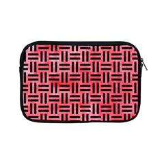 Woven1 Black Marble & Red Watercolor Apple Ipad Mini Zipper Cases by trendistuff