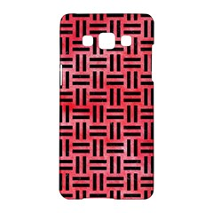 Woven1 Black Marble & Red Watercolor Samsung Galaxy A5 Hardshell Case  by trendistuff