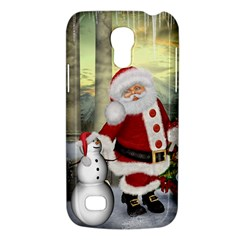 Sanata Claus With Snowman And Christmas Tree Galaxy S4 Mini by FantasyWorld7