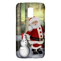 Sanata Claus With Snowman And Christmas Tree Galaxy S5 Mini by FantasyWorld7