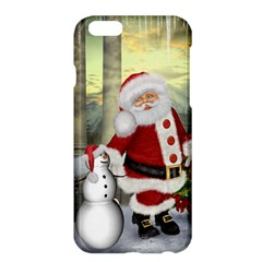 Sanata Claus With Snowman And Christmas Tree Apple Iphone 6 Plus/6s Plus Hardshell Case by FantasyWorld7