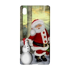 Sanata Claus With Snowman And Christmas Tree Sony Xperia Z3+ by FantasyWorld7