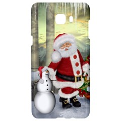 Sanata Claus With Snowman And Christmas Tree Samsung C9 Pro Hardshell Case  by FantasyWorld7