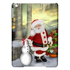 Sanata Claus With Snowman And Christmas Tree Ipad Air Hardshell Cases by FantasyWorld7