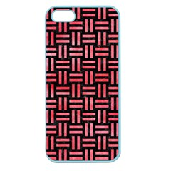 Woven1 Black Marble & Red Watercolor (r) Apple Seamless Iphone 5 Case (color) by trendistuff