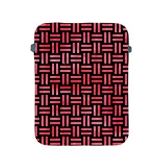 Woven1 Black Marble & Red Watercolor (r) Apple Ipad 2/3/4 Protective Soft Cases by trendistuff