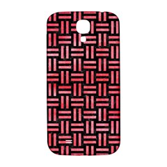 Woven1 Black Marble & Red Watercolor (r) Samsung Galaxy S4 I9500/i9505  Hardshell Back Case by trendistuff