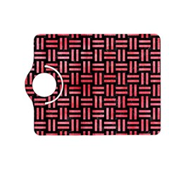 Woven1 Black Marble & Red Watercolor (r) Kindle Fire Hd (2013) Flip 360 Case by trendistuff