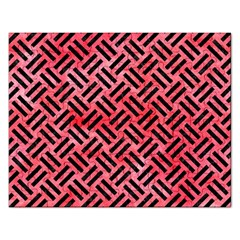 Woven2 Black Marble & Red Watercolor Rectangular Jigsaw Puzzl by trendistuff