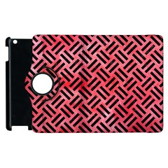 Woven2 Black Marble & Red Watercolor Apple Ipad 3/4 Flip 360 Case by trendistuff