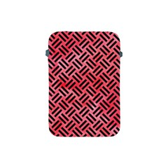 Woven2 Black Marble & Red Watercolor Apple Ipad Mini Protective Soft Cases by trendistuff